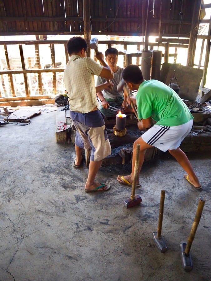 Blacksmith workers