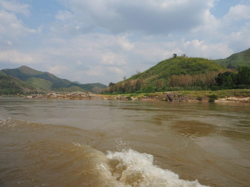 Cruising the Mekong River towards Luang Prabang