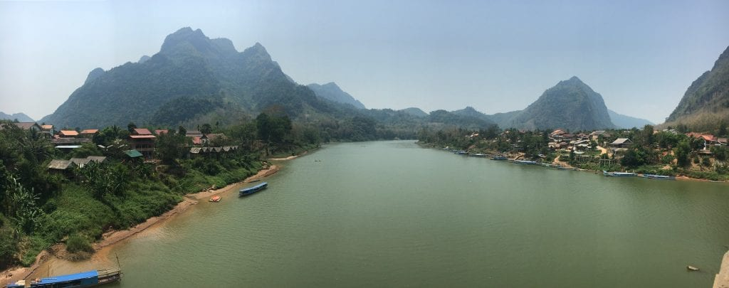 The village on Nong Khiaw, Laos