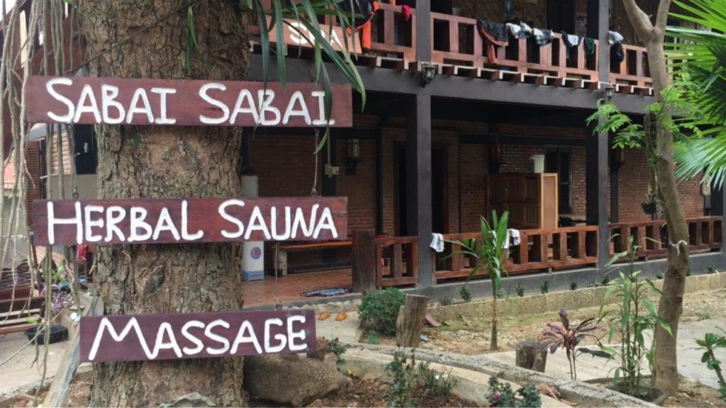 Spa Sabai Sabai in Nong Khiaw