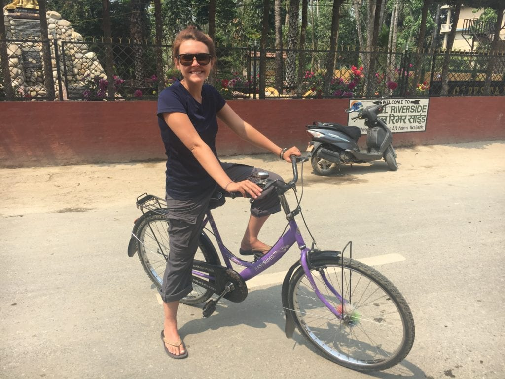 Biking around Sauraha, Nepal