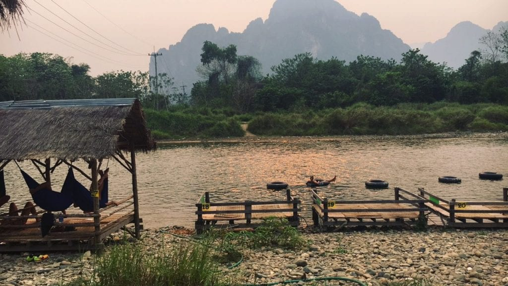 sunset vibes in Vang Vieng, Laos