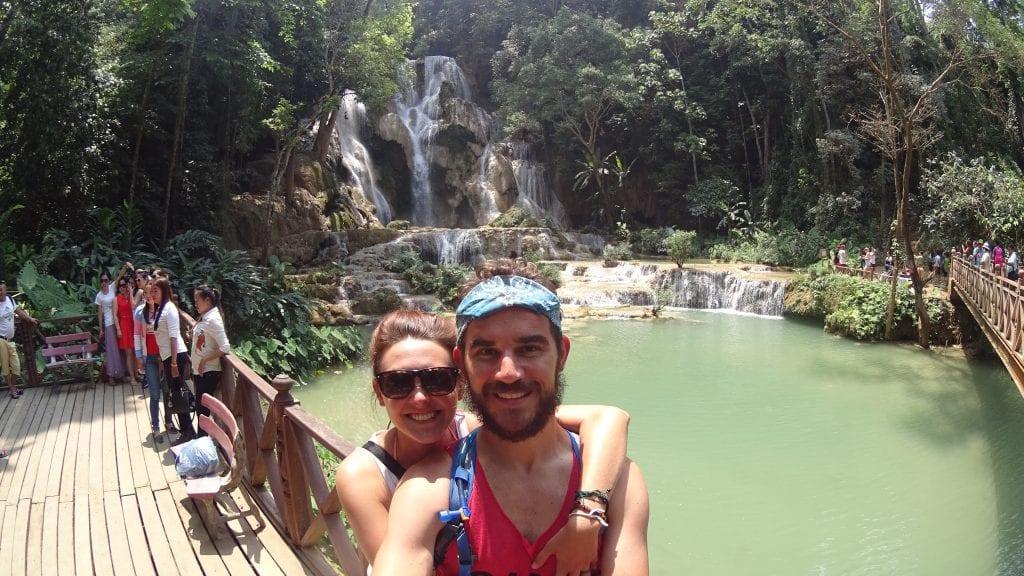Exploring Kuang Si Waterfall