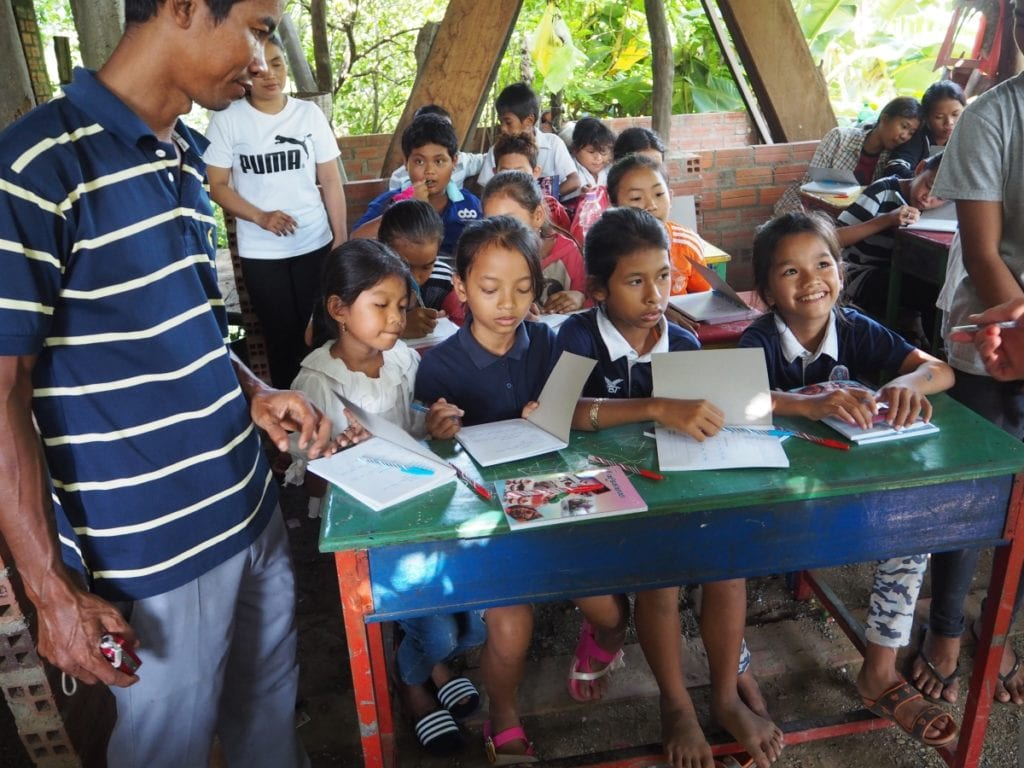 Volunteering in Cambodia with Sophorn and his students