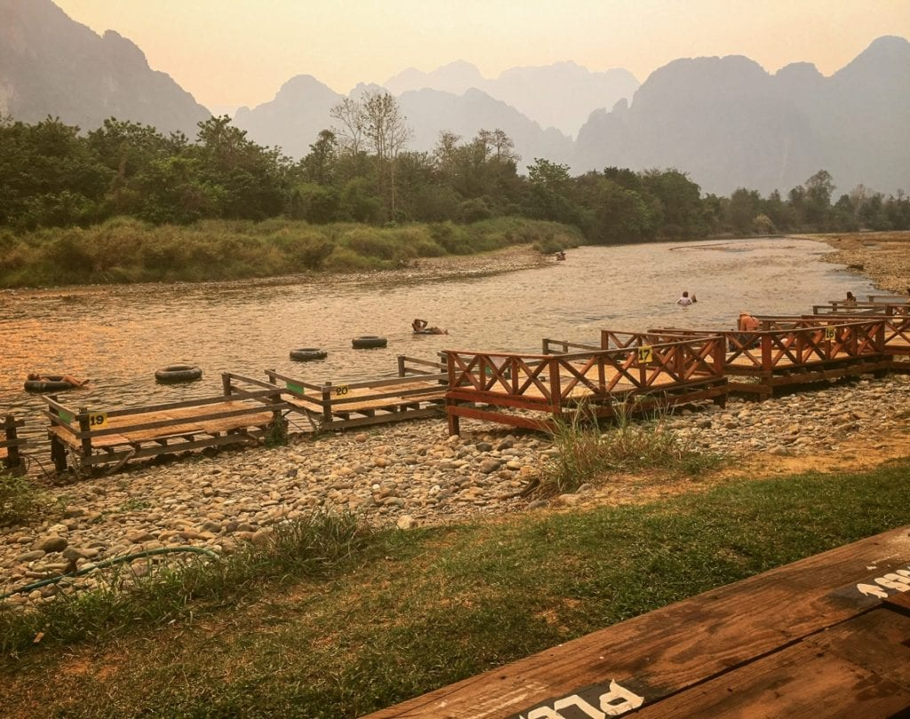 Sunset vibes in Vang Vieng