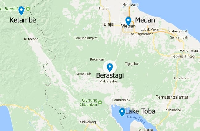 Sumatra Travel Itinerary
