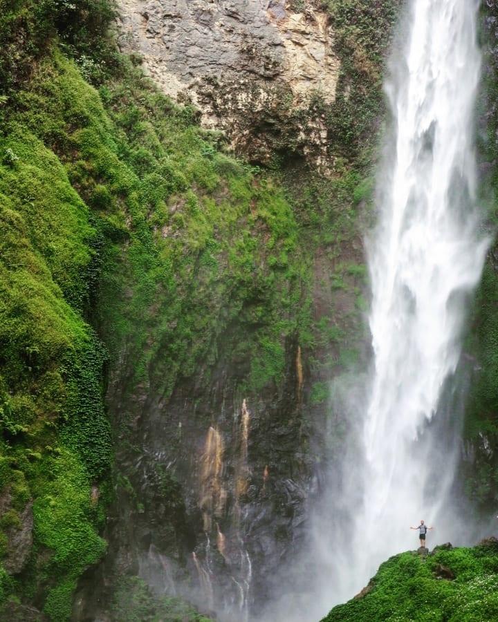 Sipisopiso Waterfall in Sumatra