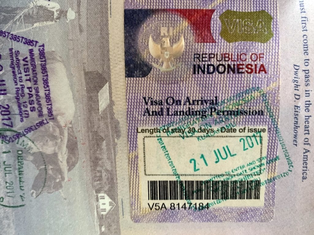 Indonesia Visa on Arrival