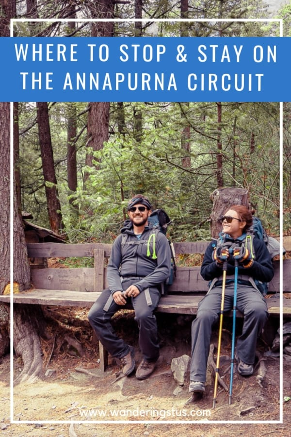 where to stop and stay on the Annapurna circuit pin