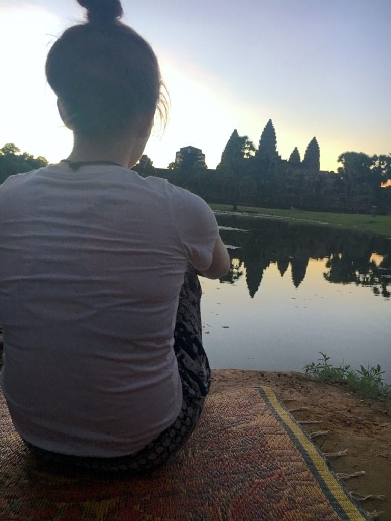 Front and center at Angkor Wat sunrise