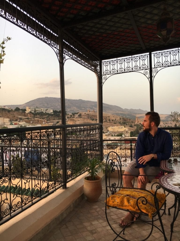 Sunset views from a Fes Rooftop
