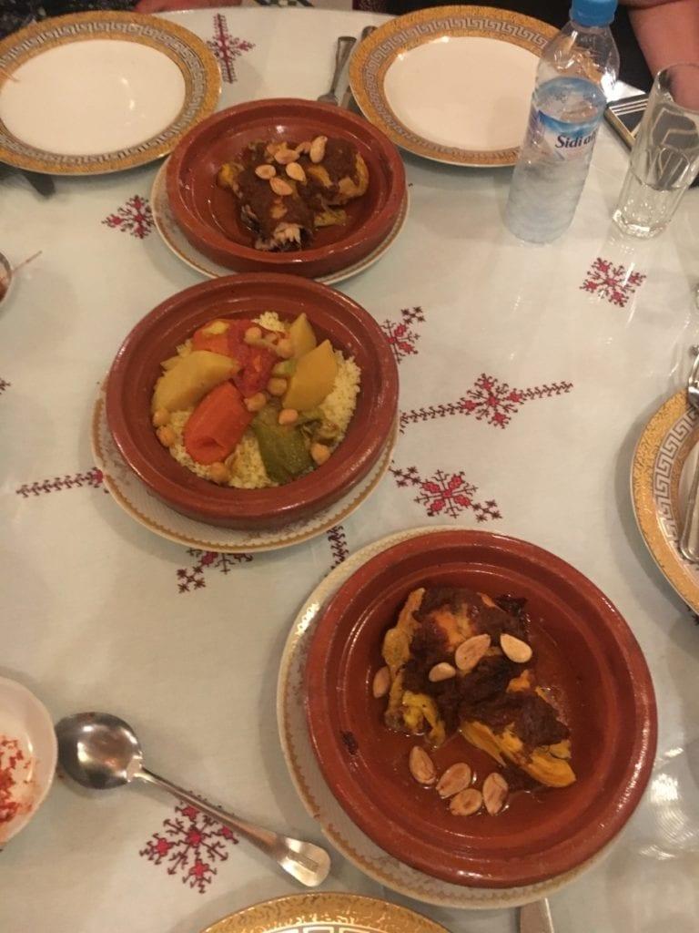 chicken and vegetable tajine