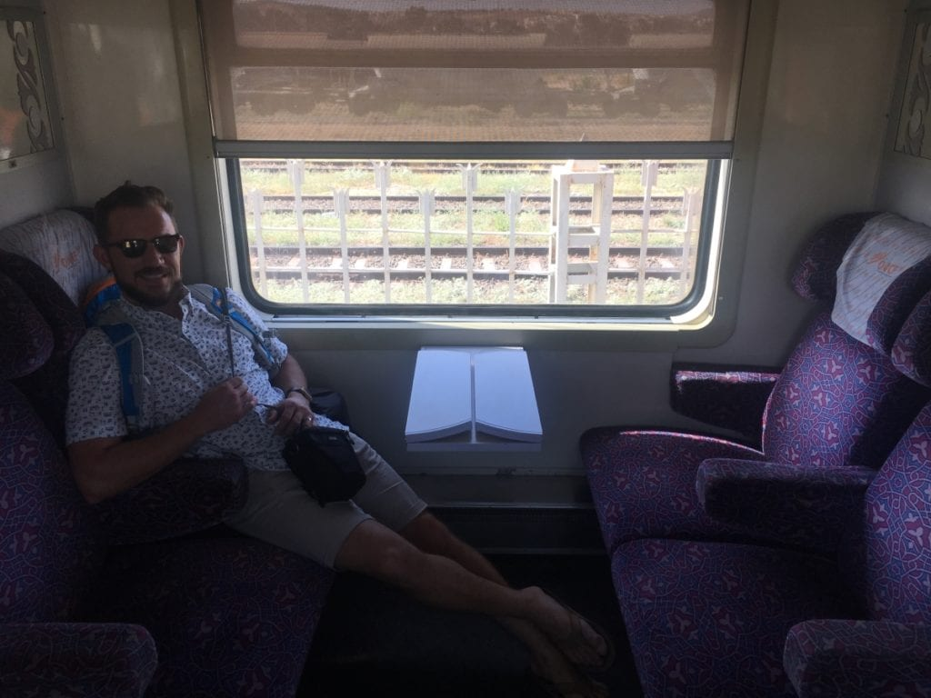 Marrakech to Fes Train: First Class Cabin