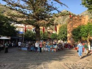 Chefchaouen's main square