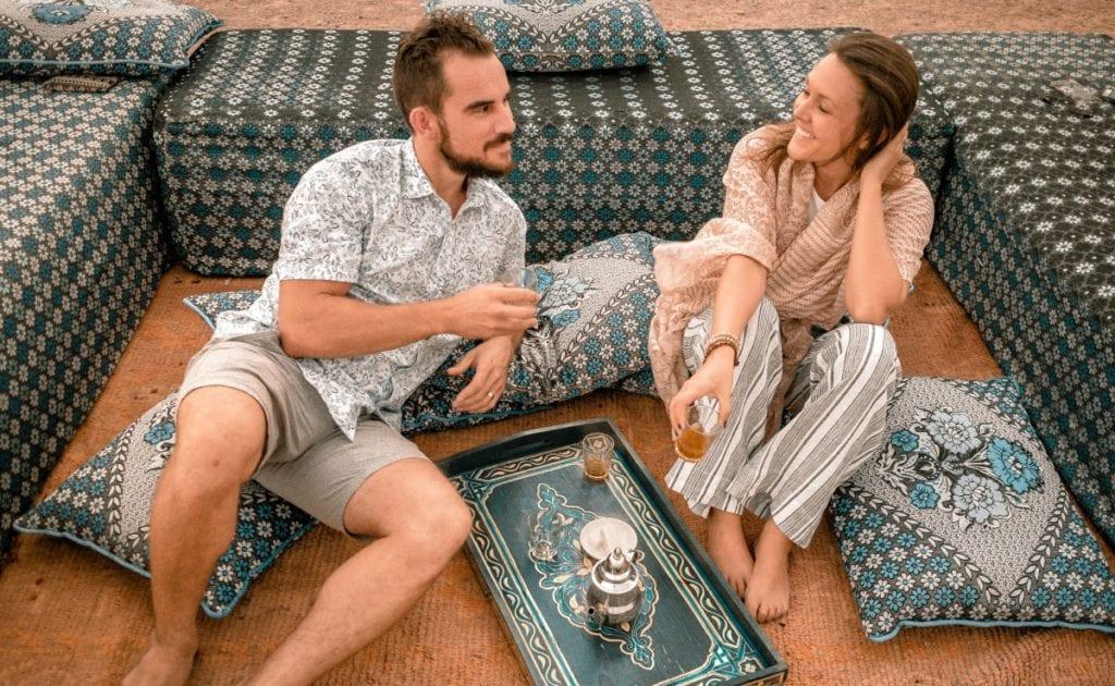 Mint Tea in The Agafay Desert of Marrakech