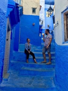 the blue alleyways of Chefchaouen