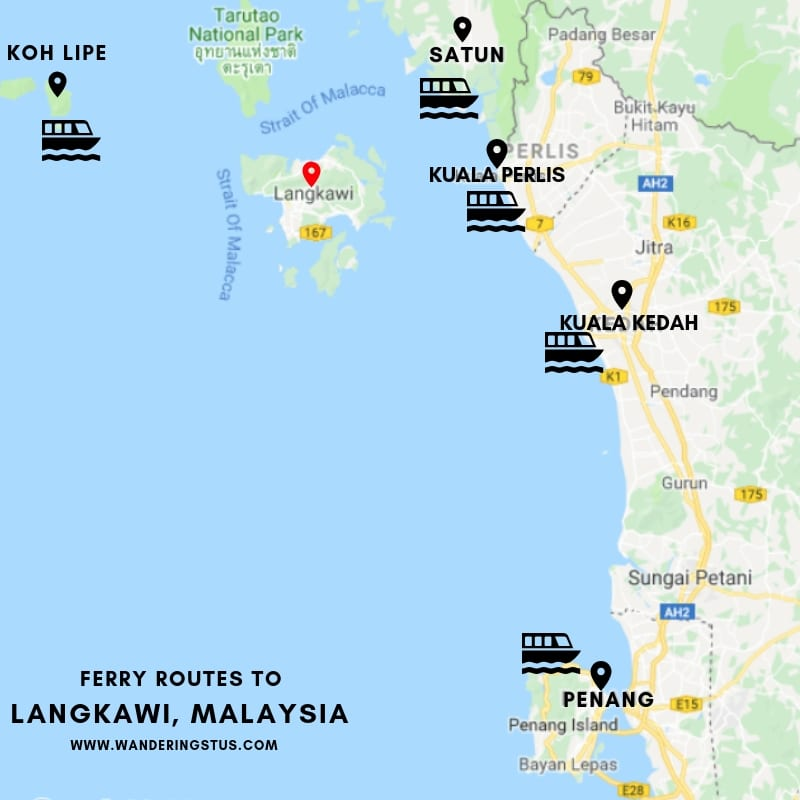 Ferry Route to Langkawi