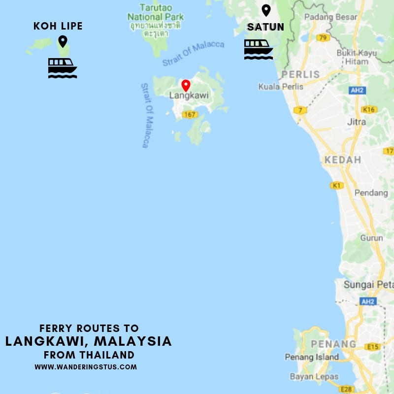 Thailand to Langkawi by Ferry