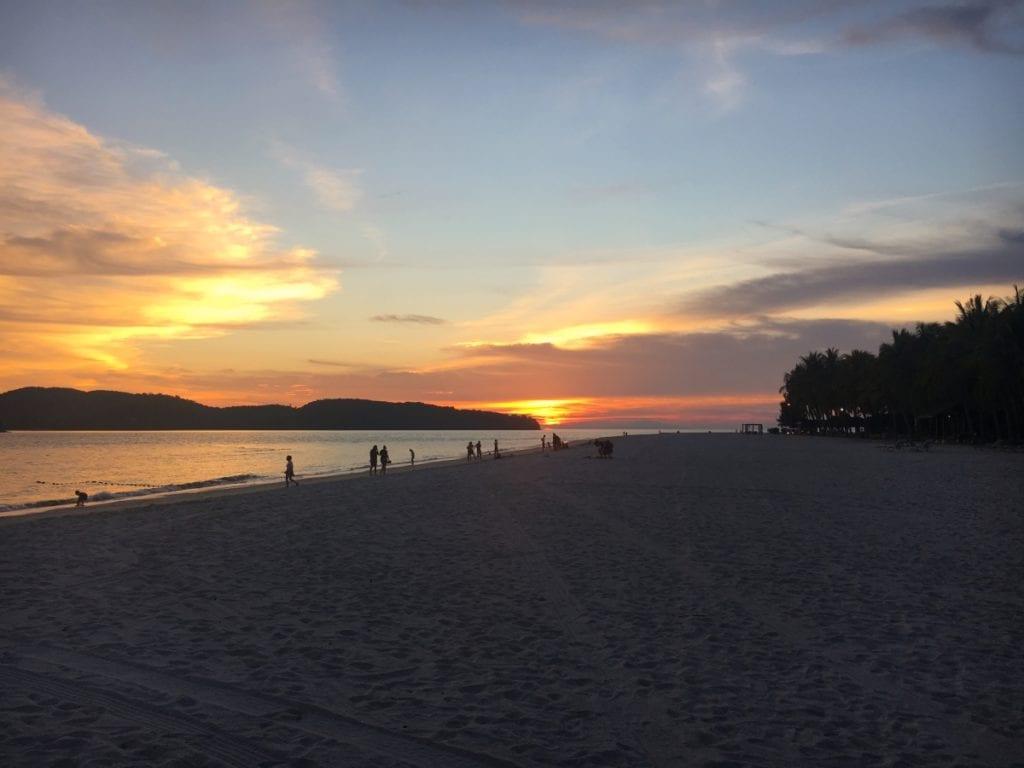 Sunset on Pantai Cenang Beach