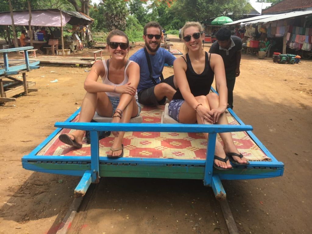 Riding The Bamboo Train in Battambang