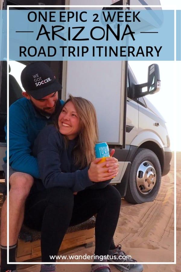 Arizona Road Trip Pin