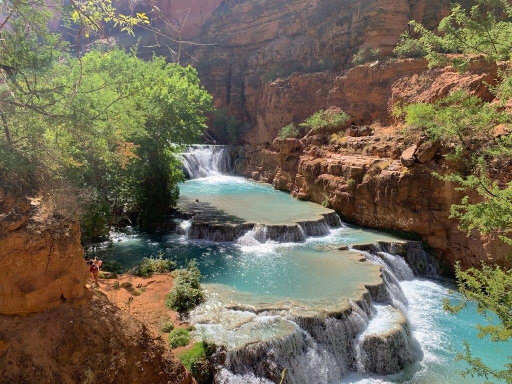 Beaver Falls in Havasui Pai Falls Arizona
