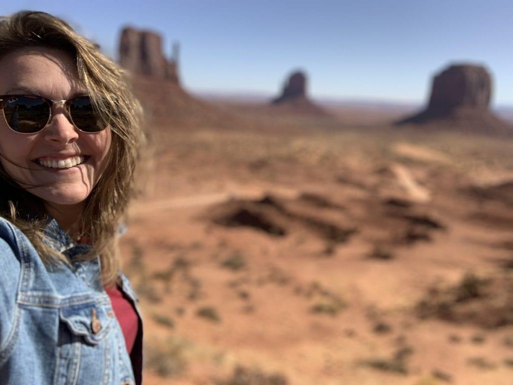 Woman at Monument Valley Utah