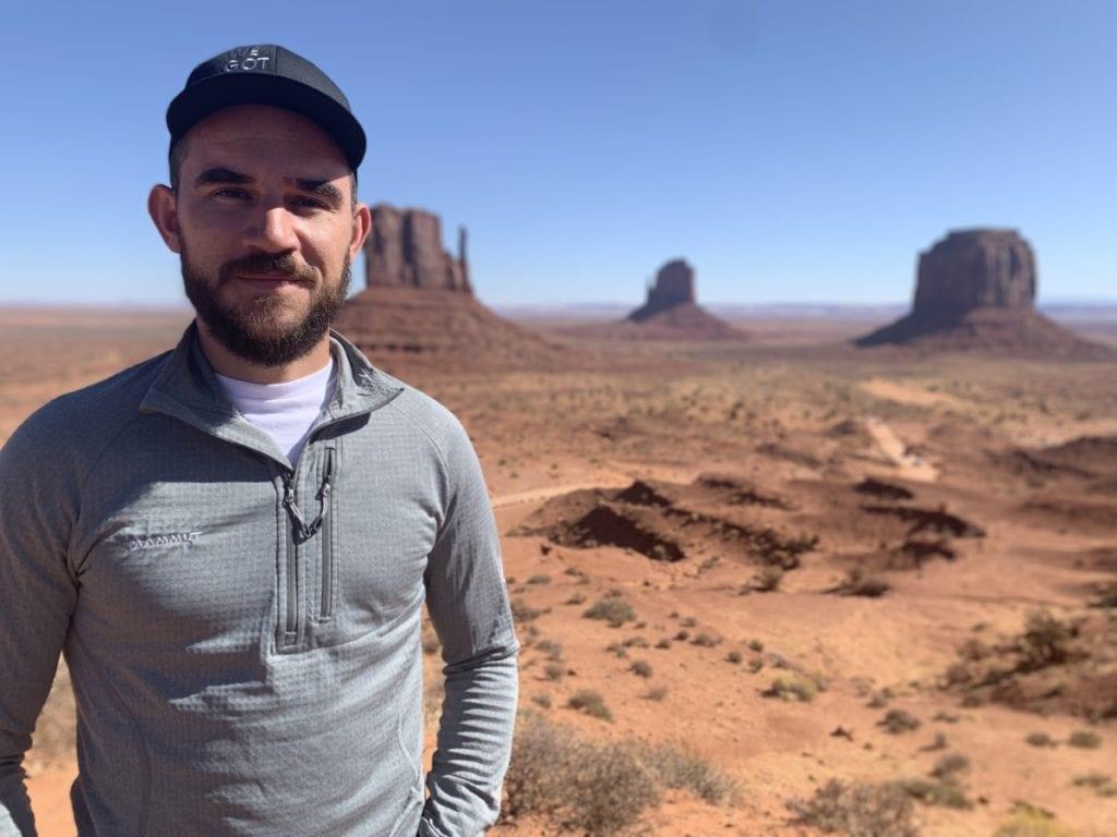Man at Monument Valley Utah