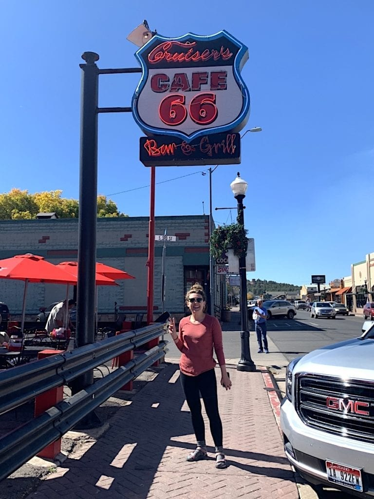 Getting our Kicks on Route 66 in Williams, Arizona