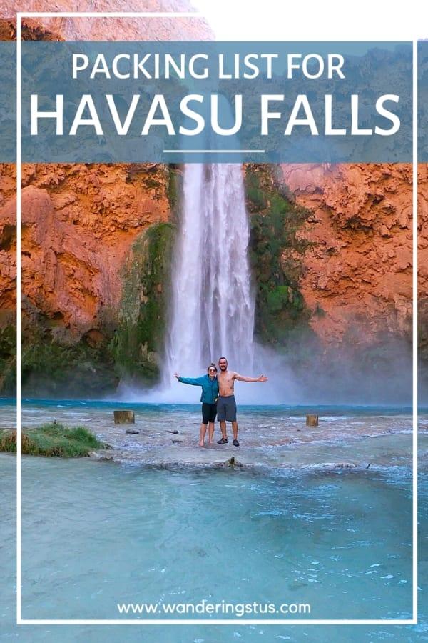 Havasu Falls Packing List Pin