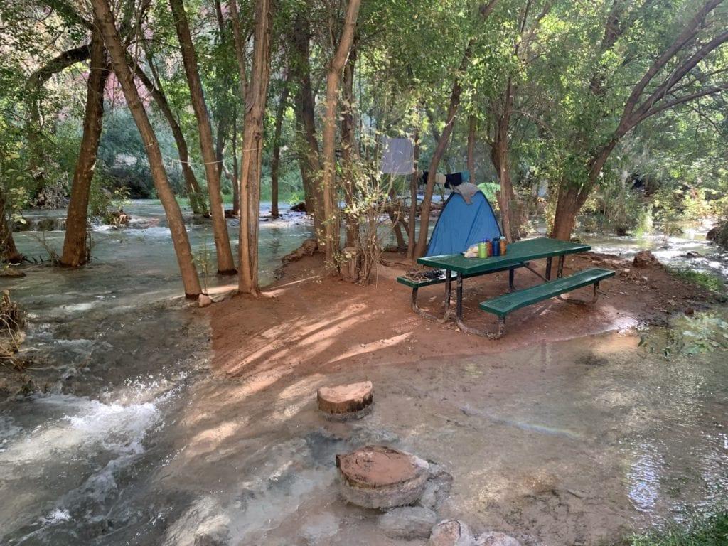 Havasu Falls Campsite