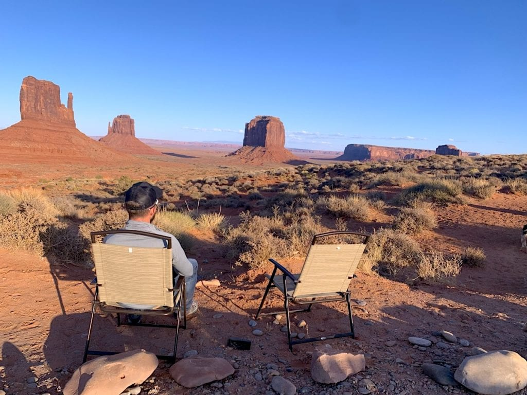Monument Valley Sunset from The View