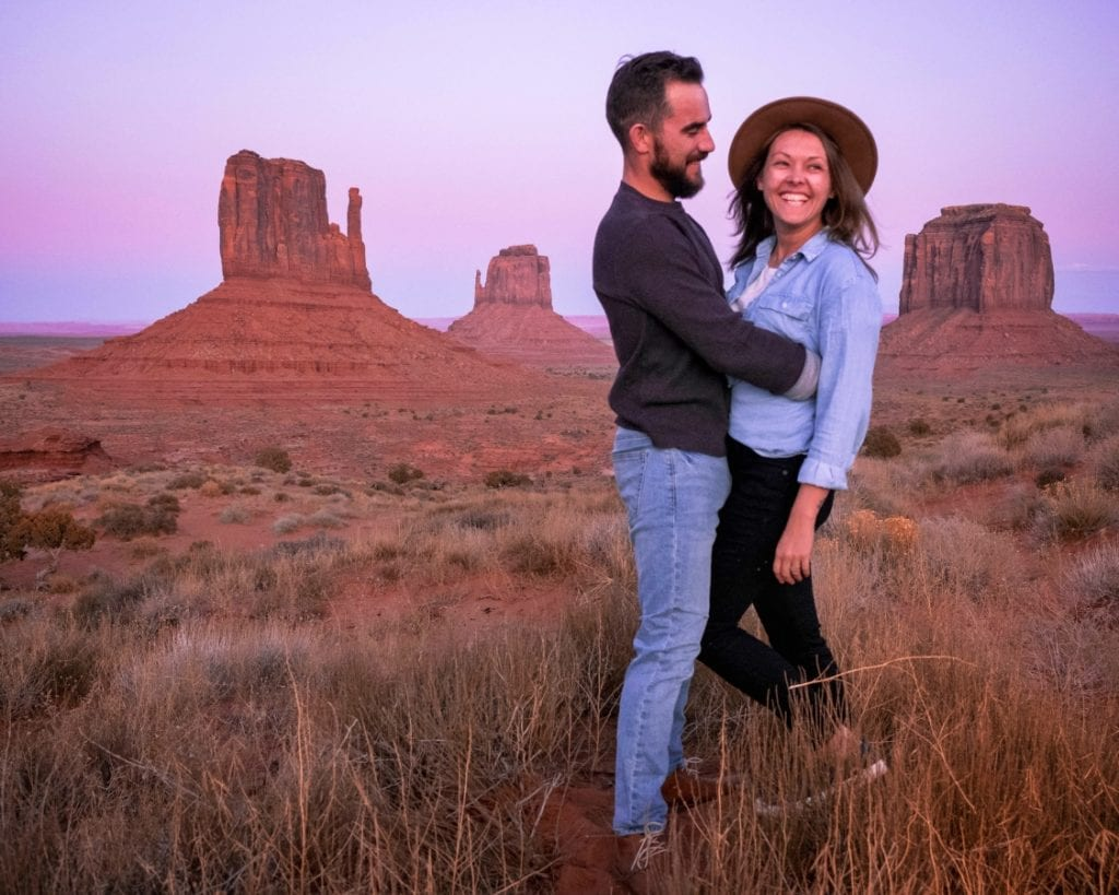 Visiting Monument Valley at Sunset